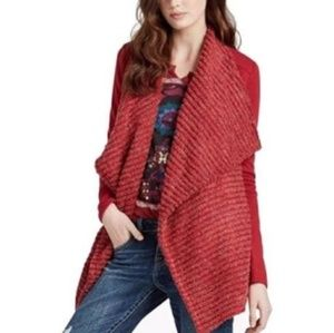 Lucky Brand Red Open Cardigan NEW Size M